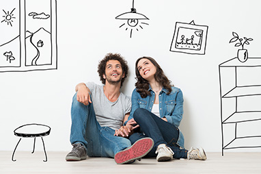 LOCIZY : jeune couple qui emménage